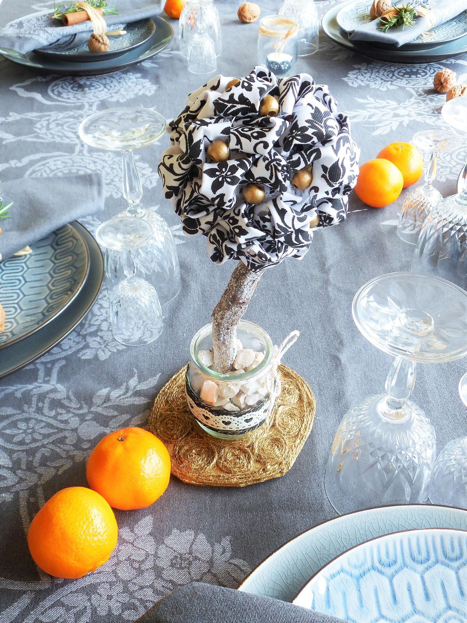 Tuto : décoration de table de Noël a faire soi-même par Jeanne s'amuse