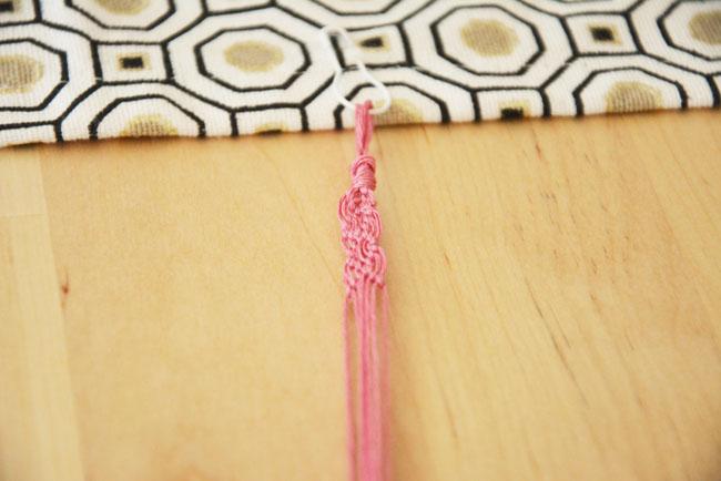 comment faire un bracelet macramé par jeanne s'amuse