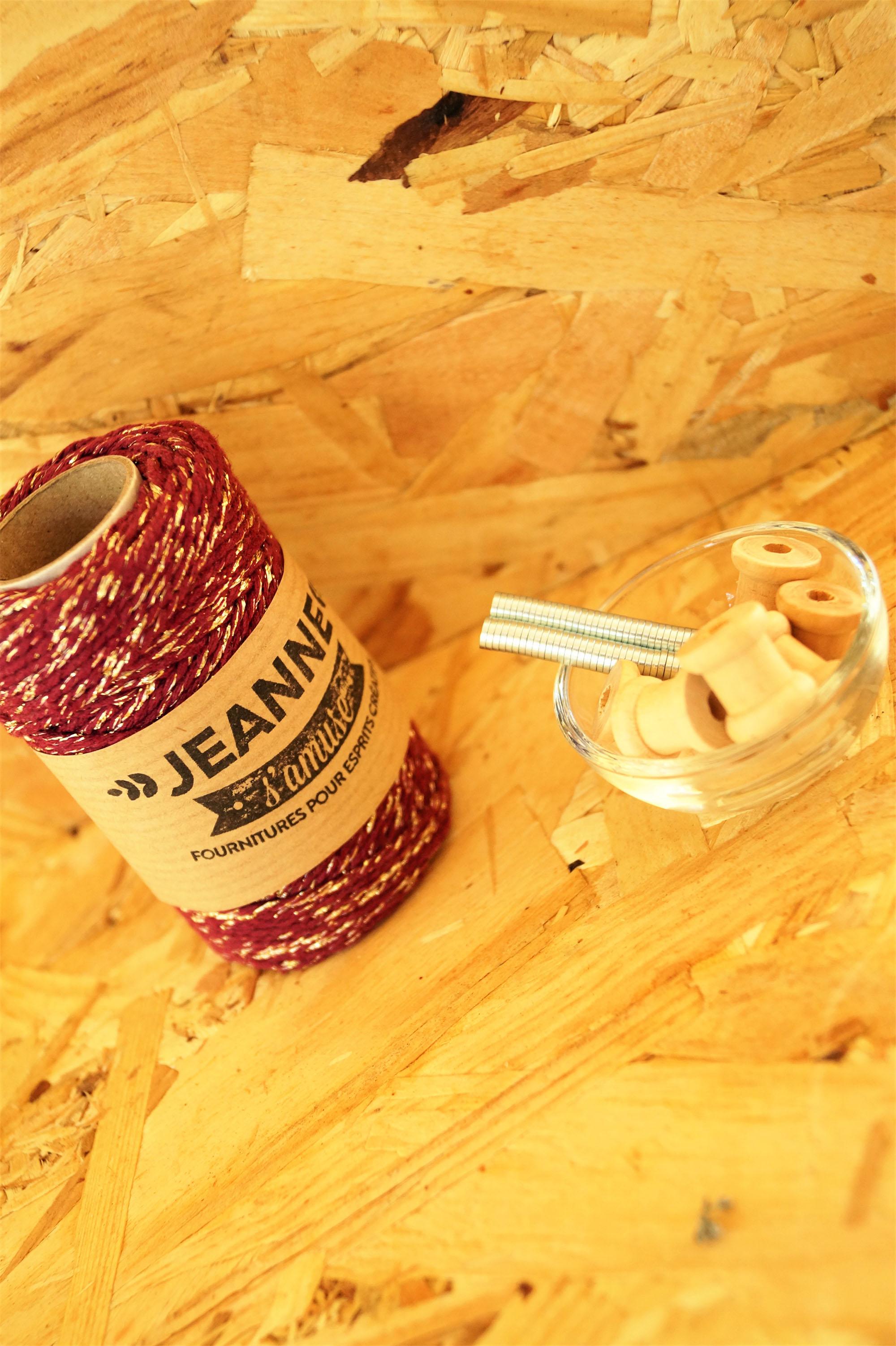 tuto : magnet avec mini bobines de baker twine