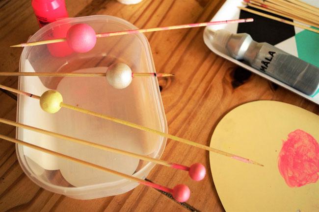 tuto fabriquer cadeau fete des meres étape séchage - jeanne s'amuse
