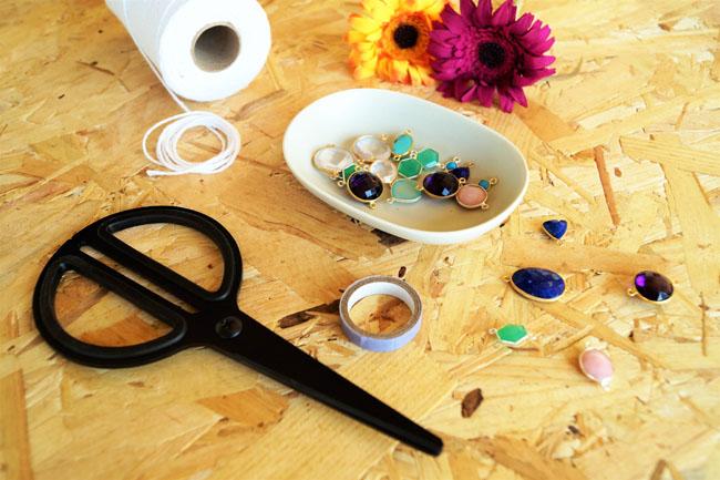 bracelet macramé noeud plat blog tutos Jeanne s'amuse